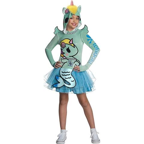 Tokidoki Sirena Mermicorno Hooded Child Costume Dress - Blue