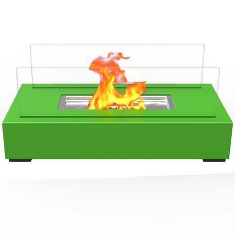 Regal Flame Utopia Ventless Tabletop Portable Bio Ethanol Fireplace - Green