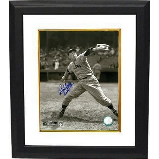 Bob Feller signed Cleveland Indians 8x10 Vintage Sepia Photo Custom Framed HOF 62 (Pitching)