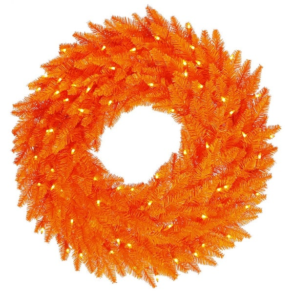 "36"" Orange Wreath DuraL LED 100Org 320T"