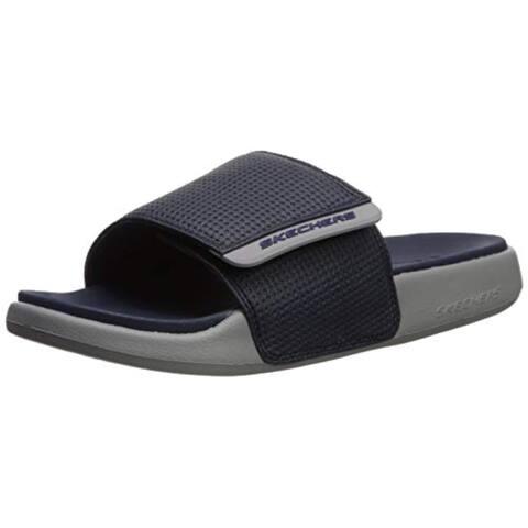 Skechers Men'S Gambix 2.0 Slide Sandal, Navy/Gray, 12 M Us