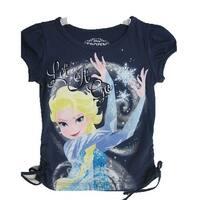 Disney Little Girls Navy Blue Frozen Character Elsa Printed T-Shirt 4-6X