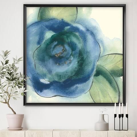 Designart 'Blue Floral Poppies I' Cottage Framed Art Print