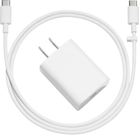 Google Wall Charger 18W with Type C Cable for Pixel White in Bulk Packaging