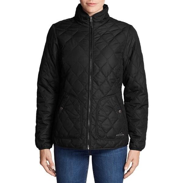 Shop Eddie Bauer Women s Mod Quilt Jacket Black Size Large - l ... a6835a05879ed