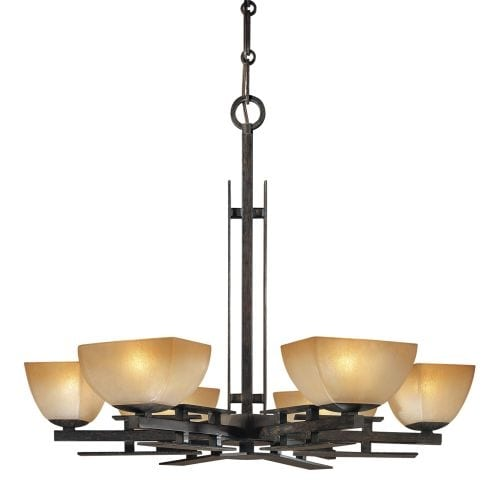 Minka Lavery ML 1276 6 Light 1 Tier Chandelier from the Linear Collection