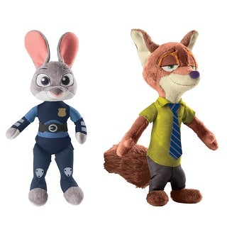 "Disney Zootopia 13.5"" Talking Plush Set: Nick Wilde and Officer Judy Hopps - multi"