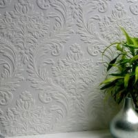 Brewster 437-RD80027 High Trad Paintable Textured Vinyl Wallpaper - N/A