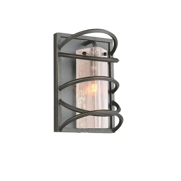 """Woodbridge Lighting 12541-C40432 Loop 1-Light 9-1/2"""" Wide Wall Sconce - Black - N/A"""