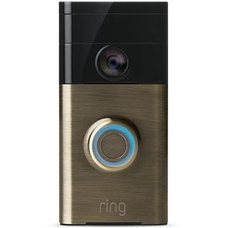 Ring 88RG003FC100 Wireless Video Doorbell, Antique Brass|https://ak1.ostkcdn.com/images/products/is/images/direct/e81a37221ae1280ab408be144557cbb1f540347e/Ring-88RG003FC100-Wireless-Video-Doorbell%2C-Antique-Brass.jpg?impolicy=medium
