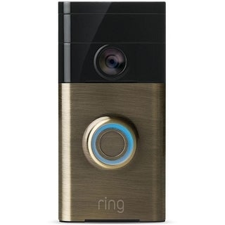 Ring 88RG003FC100 Wireless Video Doorbell, Antique Brass