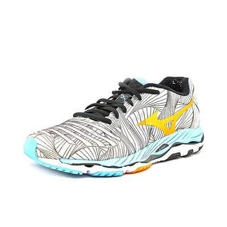 Mizuno Wave Paradoxb Women N/S Round Toe Canvas Gray Sneakers