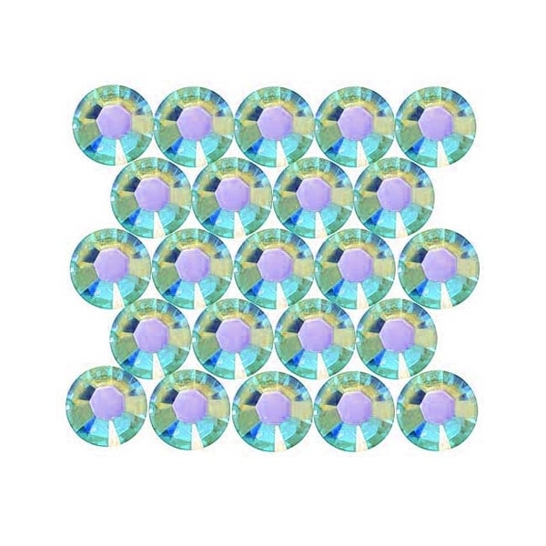 Swarovski Crystal, Round Flatback Rhinestone Hotfix SS20 4.6mm, 50 Pieces, Aquamarine AB