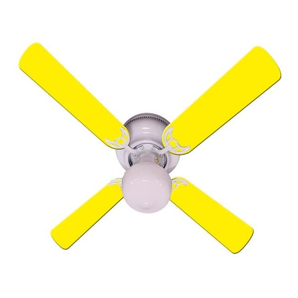 New Kids Room Decor Ceiling Fan, Yellow   Free Shipping Today   Overstock    23919522