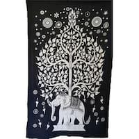 AzureGreen WTETW Elephant Tree Tapestry, 54 x 86 in.