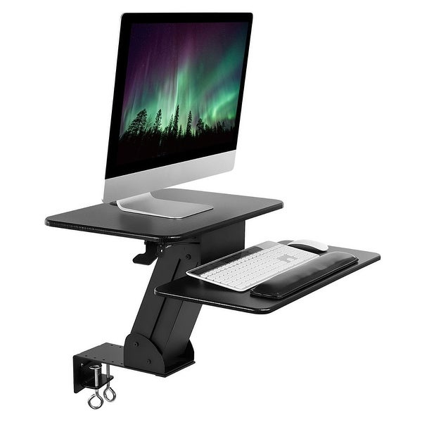 Mount It Sit Stand Desk Converter Ergonomic Height Adjule Tabletop Standing With