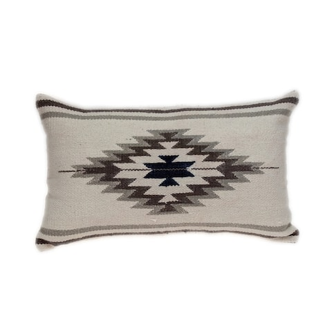 Parkland Collection Kamal Transitional White Throw Pillow