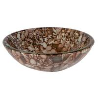 Eden Bath Natural Pebble Pattern Glass Vessel Sink