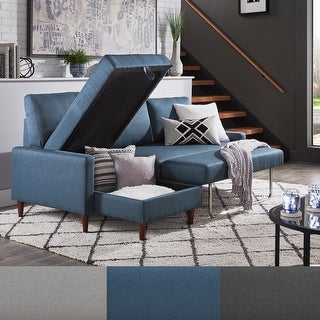 Link to Parker Convertible Sofa with Left Facing Storage Chaise by iNSPIRE Q Modern Similar Items in Living Room Furniture