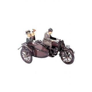 Collectible Tin Toy - Motorcycle with Passenger in Sidecar
