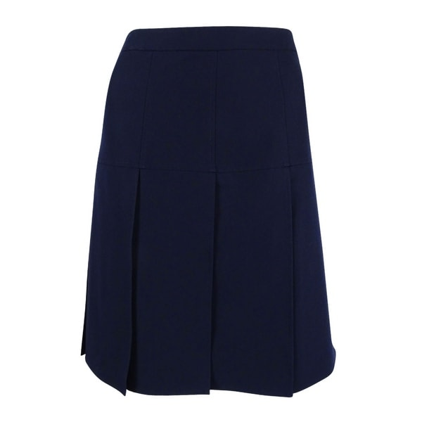 Tommy Hilfiger Women's Drop-Pleat A-Line Skirt - Midnight