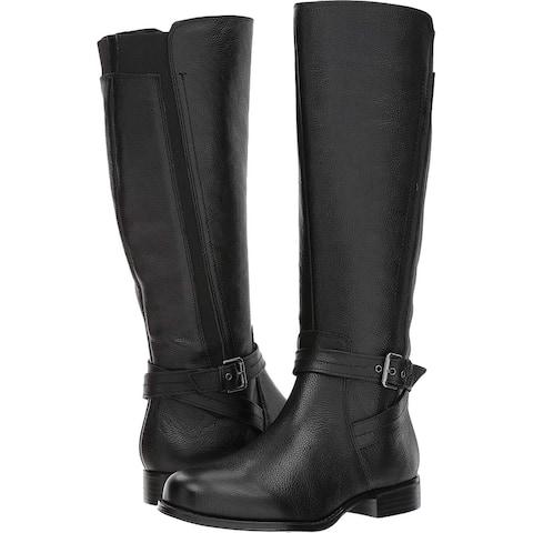 Naturalizer Womens Jelina Leather Almond Toe Knee High Fashion Boots