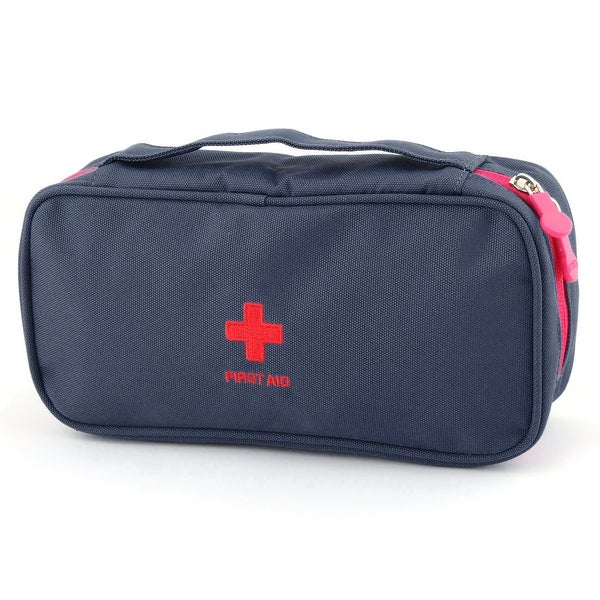 Outdoor Camping Travel Oxford Cloth First Responder Aid Rescue Storage Bag Blue