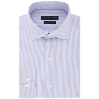 Link to Tommy Hilfiger Mens Big & Tall Button-Down Shirt Striped Suit Separate - Multi Blue Similar Items in Big & Tall