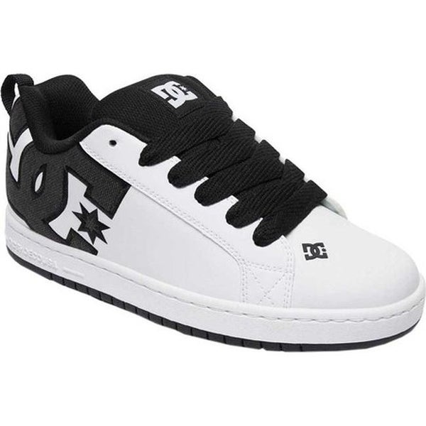 47220cf63aa61e DC Shoes Men  x27 s Court Graffik SE White White Black. Click to Zoom