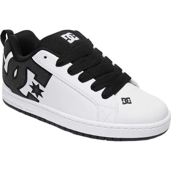 17b0bcd9c00971 Shop DC Shoes Men's Court Graffik SE White/White/Black - Free ...
