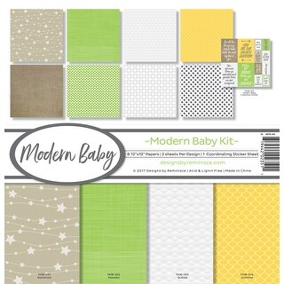 """Reminisce Collection Kit 12""""X12""""-Modern Baby"""