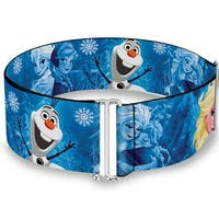 Frozen Character Poses Blues Cinch Waist Belt   ONE SIZE