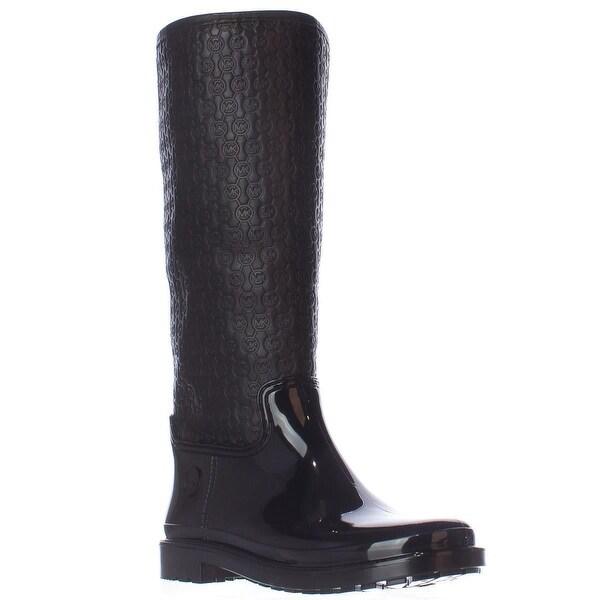 MICHAEL Michael Kors Blakely Logo Embossed Rain Boots, Black