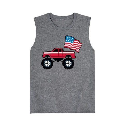 American Flag Truck - Toddler Muscle Tank
