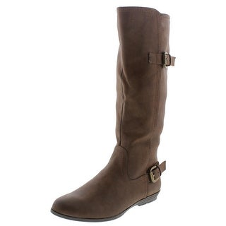 Cliffs by White Mountain Womens Finalist Riding Boots Faux Leather Buckle