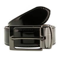 Romeo Gigli C956/3R MORO.NERO Brown/Black Leather Adjustable Mens Belt