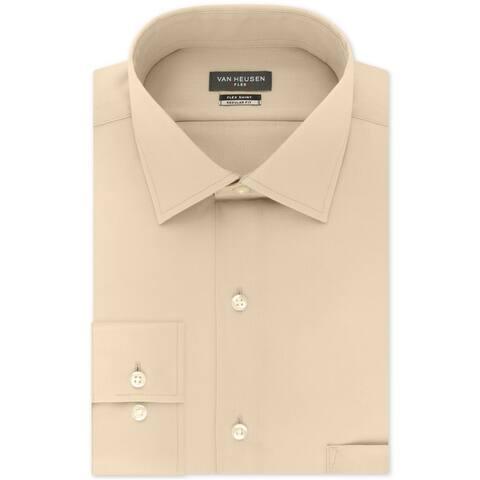 Van Heusen Mens Wrinkle Free Flex Button Up Dress Shirt