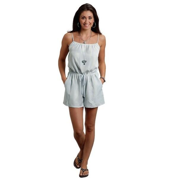 Stetson Western Shorts Womens Romper Tencel Blue