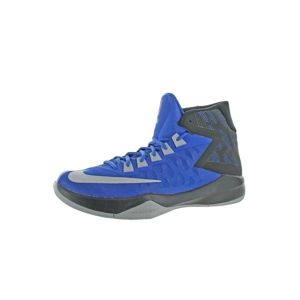 07111ae53bf7 Shop Nike Mens Zoom Devosion Basketball Shoes High Top Color block ...