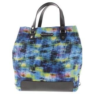 Calvin Klein Womens Backpack Convertible Printed
