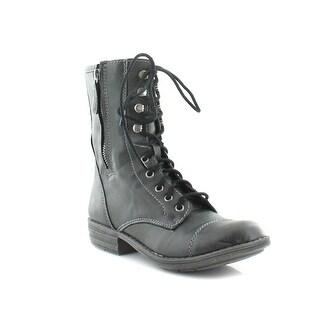 American Rag Womens janaye Closed Toe Ankle Fashion Boots, Black, Size 11.0