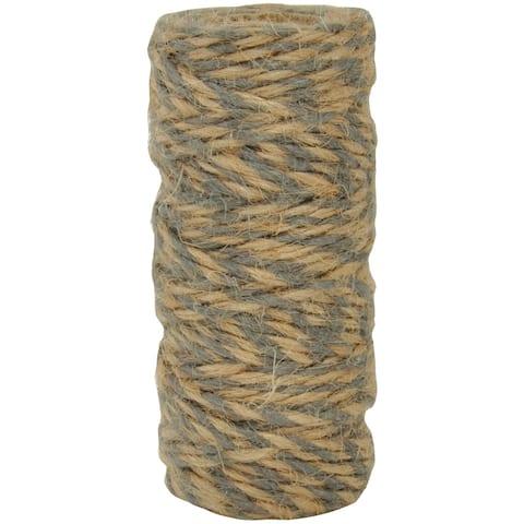 Lucky Dip Jute Cord-Double-Colour Gray, 2.5Mmx18m