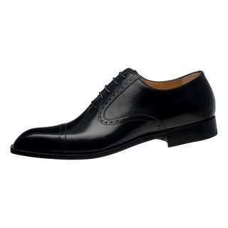 Ferrini Dress Shoes Mens Crocodile Narrow Square Lace Up Black FC3922