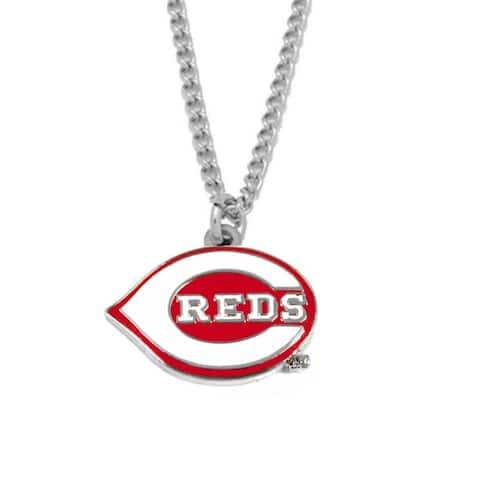 Aminco Cincinnati Reds MLB Sports Team Logo Necklace Charm Chain