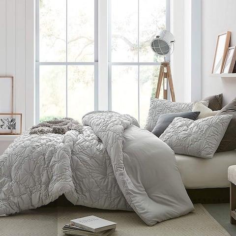 Farmhouse Morning Textured Bedding - Oversized Comforter - Glacier Gray