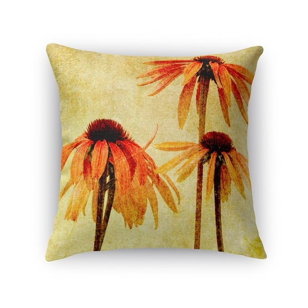 Kavka Designs orange/ tan/ green breathing lessons accent pillow with insert. Opens flyout.