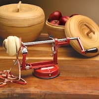 Mrs. Anderson's Apple Peeling Machine, Peeler, Corer, Slicer - Suction Base & C-Clamp - 10 in. x 4 in. x 4 in.