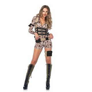 Battlefield Babe Women's Costume - Brown