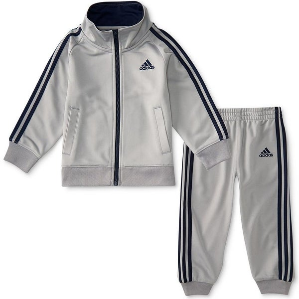 4630ef45cfee Shop Adidas Toddler Boys 2T-4T Tricot Jogger Set - Light grey - Free  Shipping On Orders Over  45 - Overstock - 22465554