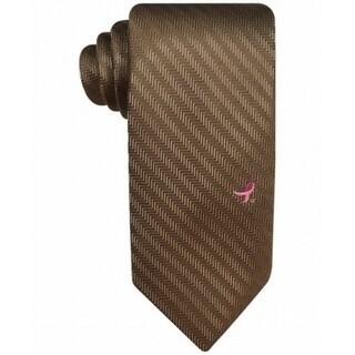 Susan G. Komen NEW Taupe Brown Men's Breast Cancer Herringbone Neck Tie
